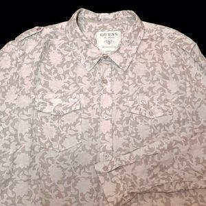GUESS Dillon Slim Fit Floral Button Down Shirt